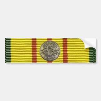 Vietnam service with medal bumper sticker