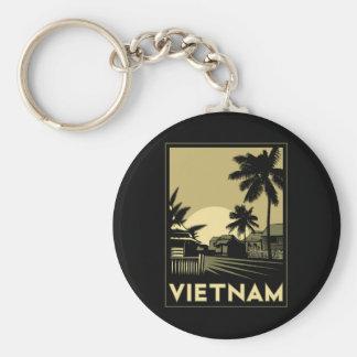 vietnam southeast asia art deco retro travel keychain