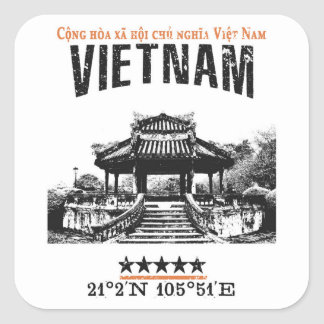 Vietnam Square Sticker