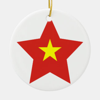 Vietnam Star Ceramic Ornament