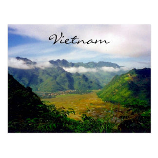 vietnam valley view postcard