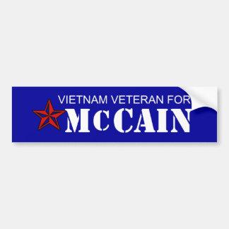 Vietnam Vet for McCain Bumper Sticker