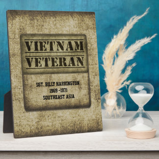 Vietnam Vet Gratitude Commemorative Personalized Plaque