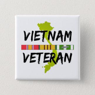 vietnam veteran 2 inch square button
