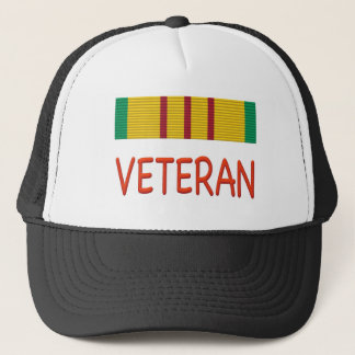 VIETNAM VETERAN Campaign RIBBON Trucker Hat