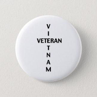 Vietnam Veteran Cross (Button) 2 Inch Round Button