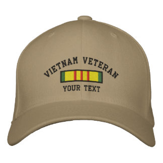 Vietnam Veteran Embroidered Hat