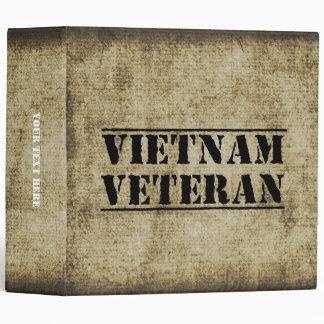 Vietnam Veteran Military Vet Soldier Binders