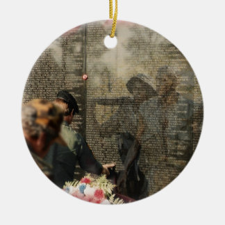 Vietnam Veterans' Memorial Ceramic Ornament