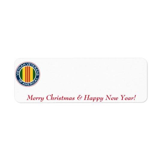 Vietnam Veterans of America Christmas Label #1 Return Address Label
