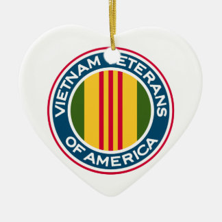 Vietnam Veterans of America Logo Ceramic Heart Ornament