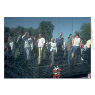 Vietnam Veterans Wall Washington DC. Card
