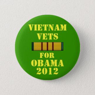 Vietnam Vets for Obama 2012 2 Inch Round Button