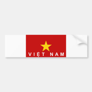 vietnam viet nam flag country text name bumper sticker
