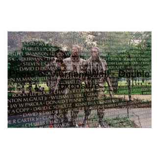 Vietnam Wall Memorial Poster