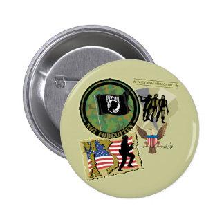 Vietnam War 2 Inch Round Button
