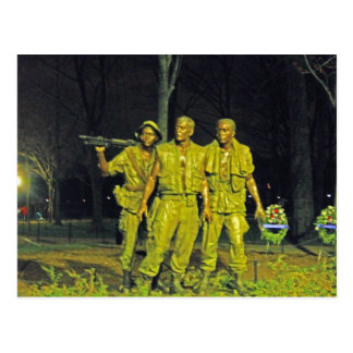 Vietnam War Memorial at Night Washington DC Postcard