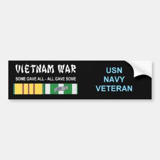VIETNAM WAR NAVY VET BUMPER STICKER