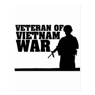 Vietnam War Verteran Postcard