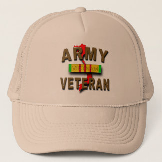 Vietnam War Veteran Service Ribbon, ARMY Trucker Hat