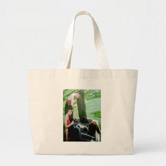 Vietnam woman washing hair large tote bag