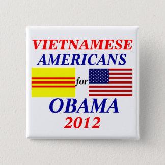 vietnamese americans for Obama 2 Inch Square Button
