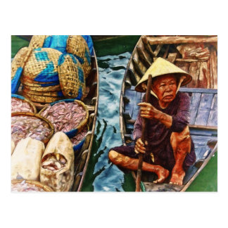 Vietnamese Fisherman by Shawna Mac Postcard