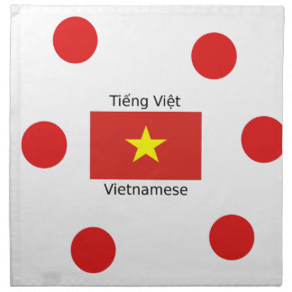 Vietnamese Language and Vietnam Flag Design Napkin