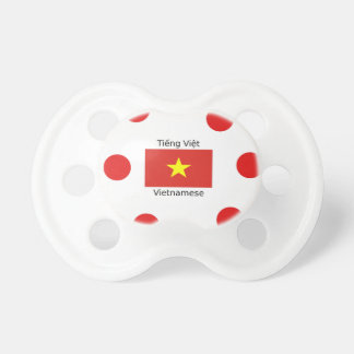 Vietnamese Language and Vietnam Flag Design Pacifier