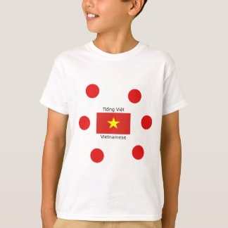 Vietnamese Language and Vietnam Flag Design T-Shirt