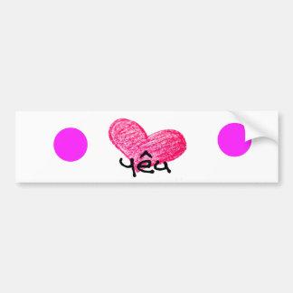 Vietnamese Language of Love Design Bumper Sticker
