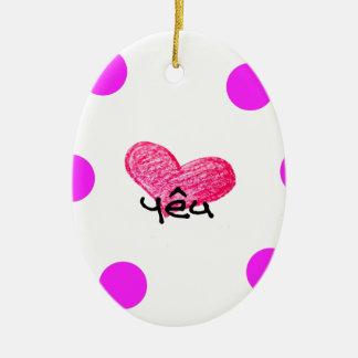 Vietnamese Language of Love Design Ceramic Ornament