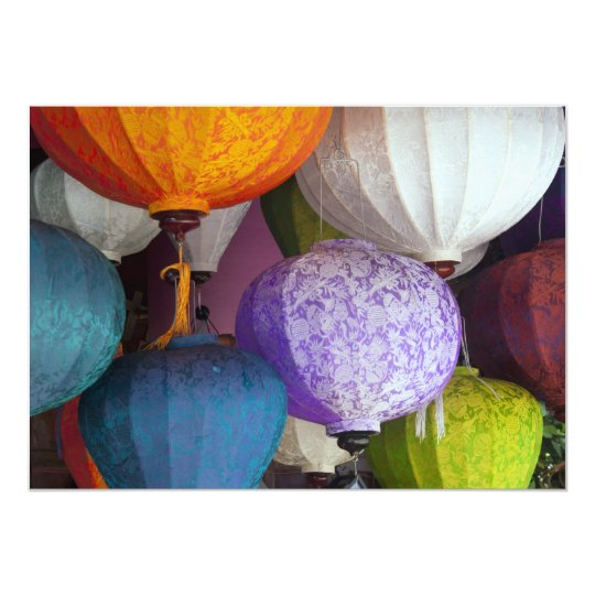 Vietnamese Lanterns Card