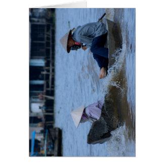 Vietnamese River Boat Card