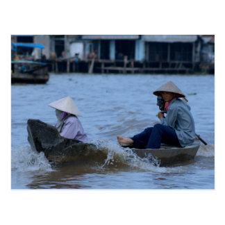 Vietnamese River Boat Postcard