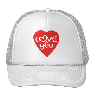 Vietnamese Valentine ♥ Love Yêu ♥ Asian Wordplay Trucker Hat