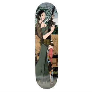 Vietnamese woman skate decks