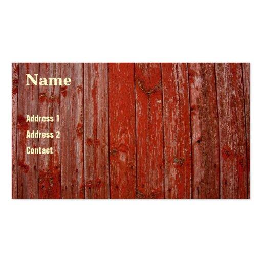 Vieux bois rouge cartes de visite professionnelles