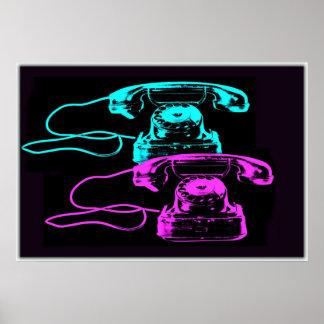 Vieux collage de téléphone affiches