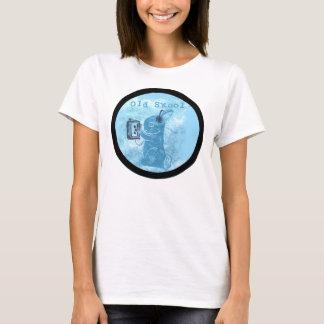 Vieux lapin de Skool avec la platine du dérouleur T-shirt