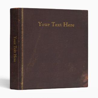 Vieux livre antique, rétro limite de cuir de faux classeur vinyle
