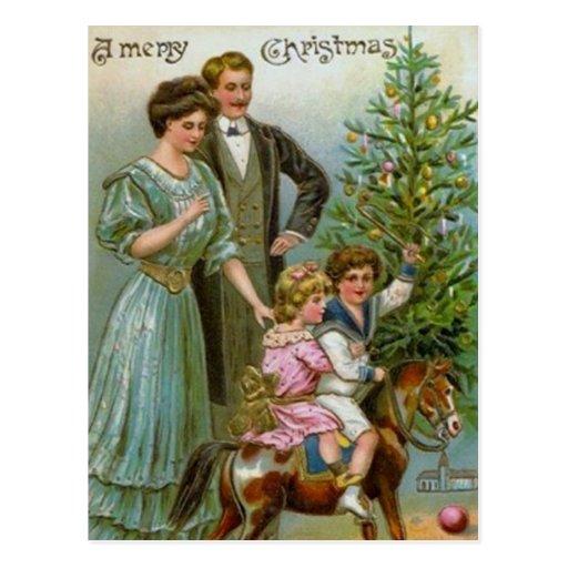 Vieux Noël de mode Carte Postale