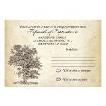 vieux rsvp d'arbre vintage pour épouser la concept invitations