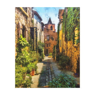Vieux Village de Grimaud, France Canvas Print