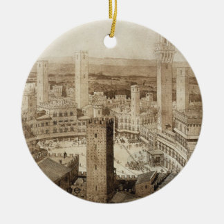 View Across Siena, from 'Fragments d'Architecture Ceramic Ornament