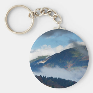View across to Saint Catherine's Church near Bled Keychain