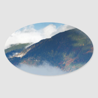 View across to Saint Catherine's Church near Bled Oval Sticker
