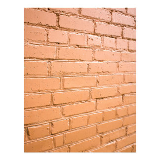 View angle on the brick wall letterhead