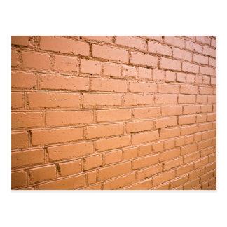 View angle on the brick wall postcard