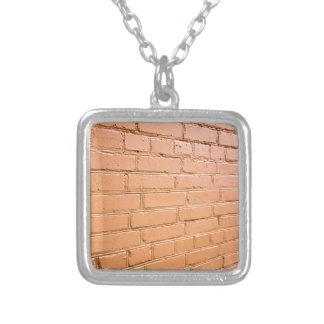 View angle on the brick wall silver plated necklace